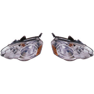 Fits 2002 2004 Acura Rsx Pair Head Lights Driver And Rh