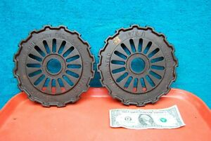 2 Pc Vintage International Harvester Tractor Seed Planter Disc 1978a steam Punk