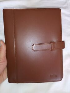 Levenger Brown Genuine Leather Organizer Planner Notebook Book Cover