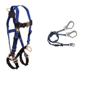 Falltech Safety Harness 7017 With 6ft Energy Absorbing Rebar Lanyard 8259y3 1ea