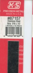 12 In Stainless Steel Strip 1 2x9 500in 12 70x0 46mm K s Engineering 87157