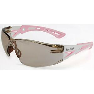 Bolle Rush Small Safety Glasses White pink Temples Csp Anti fog Lens 40249