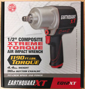 Earthquake Xt 1 2 In Composite Xtreme Torque Air Impact Wrench 62891 1190 Ft Lb