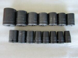 Cornwell 1 2 Drive Metric 6pt Impact Socket Set 15pc Made In Usa
