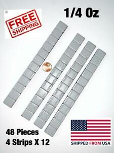 48 PIECES WHEEL WEIGHTS STICK ON ADHESIVE TAPE WEIGHT 1 4 OZ 0.25 4 strips $9.99