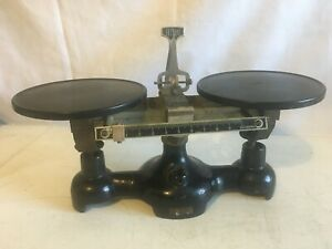 Vintage Cast Iron Welch Balance Scale 10 Grams 10 Base