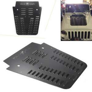 Hood Louver Powdercoat Black Fit Jeep Wrangler Jk 2013 2018 17 1pc
