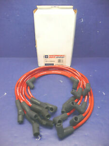 Nos Gm Performance Parts 8mm 135 Degree Boots Red Spark Plug Wire Set V8 Sbc