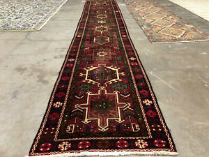 2x14 Antique Runner Rug Wool Hand Knotted Vintage Handmade Tribal 2x13 3x14 3x13