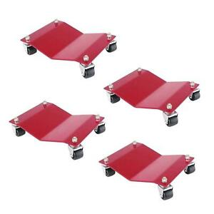 4 Auto Dolly M998002 Red Car Dollies 12 X 16 X 4 6000 Lb Capacity Moving