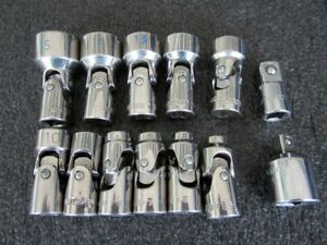 Matco Tools 1 4 Drive 11pc Metric 6pt Universal Flex Socket Set Saum116rb