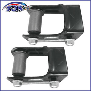 New Leaf Spring Shackle Rear Lh Rh Pair Set For Chevy Blazer S10 Gmc Jimmy S15