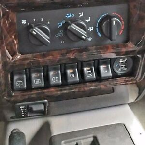 97 01 Jeep Cherokee Xj Switch Panel Fits 6 Oem Switches