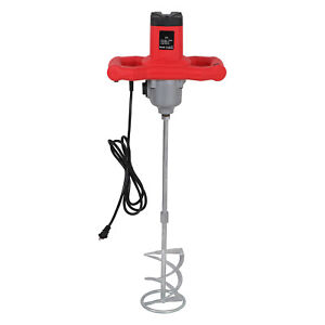 Portable Electric Mortar Mixer 1600w Dual High Low Gear Paint Cement Grout