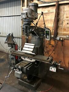 Bridgeport Series 1 Milling Machine With Newall 2 axis Dro And Power Feed