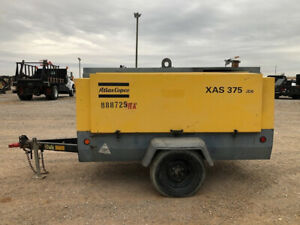 2011 Atlas Copco Xas 375 Cfm Towable Air Compressor Xas375