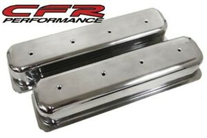 1987 97 Chevy 5 0l 5 7l Tall Polished Aluminum Center Bolt Valve Covers No Hole
