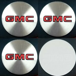 4pcs Gmc Emblem Badge Rally Wheel Center Hub Caps Logo Stickers 1set 4pcs