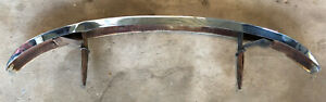 Vintage Volkswagen Bug Beetle Chrome Bumper Oem Part Has Rust Inside Brackets