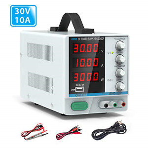 30v 10a Dc Power Supply Dr meter Variable 4 digital Led Display Power Supply
