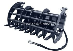 New 72 Cid X treme Duty Grapple Rake Attachment For Skid Steer Track Loaders