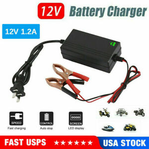 12v Auto Battery Charger Maintainer Trickle For Harley Davidson Motorcycles Car