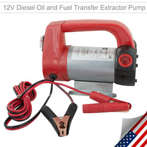 12v Oil Diesel Electric Transfer Pump Fuel Transfer Extractor Pump Suction Lift