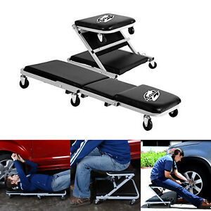 New Work Shop Equipment Z Creeper Seat Garage Repair Rolling Seat