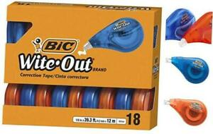 Bic Wite out Brand Ez Correct Correction Tape White 18 count 18 Count