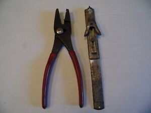 Snap On Tools Hose Clamp Pliers And Valve Key Replacer Spring Tool Pre Owned