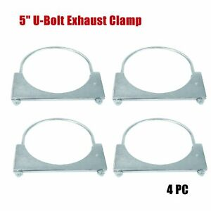 5 Inch Exhaust Clamp U Bolt Style Saddle Style Clamp Economy 4pc
