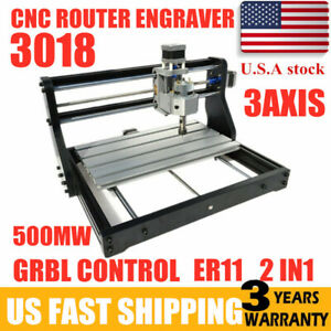 3 Axis Diy Cnc3018 Pro Router Kit Engraving Milling Machine Grbl Control Er11 Ce
