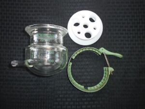 Chemglass 200ml Glass Jacketed Reaction Vessel Body Lid And Clamp Chip