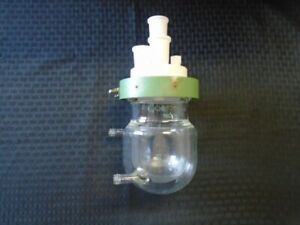 Chemglass 300ml Glass Jacketed Reaction Vessel Body Lid And Clamp Cg 1926