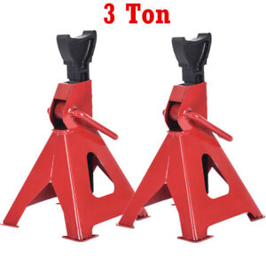 Pair Of 3 Ton Car Jack Stands Adjustable Height Auto Body Shop Safety Tool 2pcs