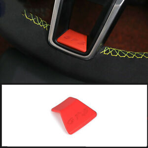 For Porsche Cayenne 2011 2017 Red Abs Car Steering Wheel Lower Cover Trim 1pcs