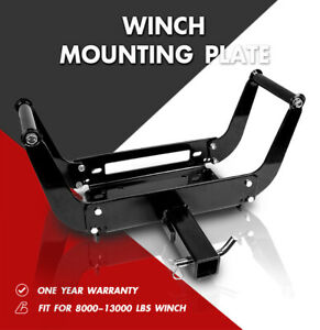X Bull Winch Cradle Mounting Plate Bracket Foldable Mount For Truck Trailer 4wd