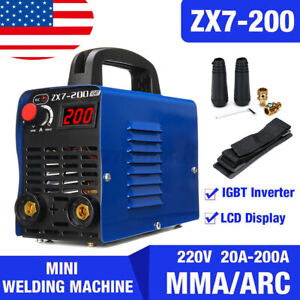 Digital 200a Mma Arc Electric Welding Machine Dc Igbt Inverter Rod Stick Welder