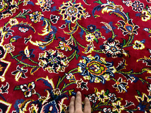 10x14 Red Antique Rug Hand Knotted Oriental Wool Handmade Vintage Traditional