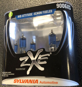 Sylvania Silverstar Zxe 9006xs Pair Set Headlight Bulbs Xenon Fueled New