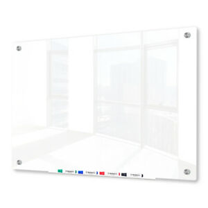 Magnetic Glass Dry Erase Marker Board Ultra White 24 X 36