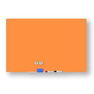 Magnetic Glass Dry Erase Marker Board Peach 24 X 36