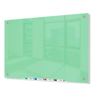 Magnetic Glass Dry Erase Marker Board Light Green 36 x48