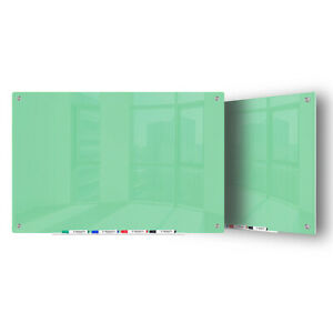 Magnetic Glass Dry Erase Marker Board Light Green 48 x60