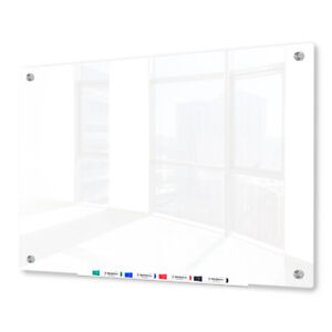 Magnetic Glass Dry Erase Marker Board Ultra White 48 x60
