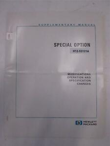 Hp H12 53131a Special Option Supplementary Manual Used