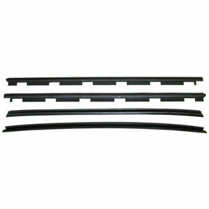 New Set Of 4 Inner outer Window Sweep Weatherstrip Seals For Chevy C k Truck