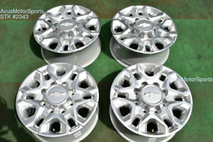 18 Chevy Silverado 2500 3500 Oem Wheels Gmc Sierra Polished 2019 2020 Ltz