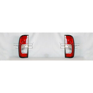 Fits 2000 Nissan Frontier Tail Light Pair