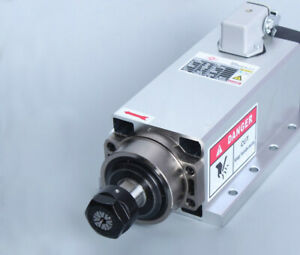 1 5kw Er11 Air cooled Square Spindle Motor For Cnc Router Engraving Milling